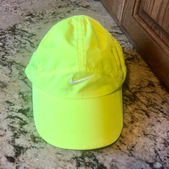 Bright yellow Nike running hat